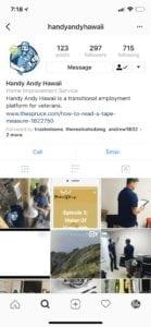 Handy Andy Hawaii Instagram Marketing Services