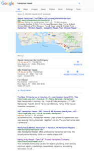 Handy Andy Hawaii Search Engine Optimization